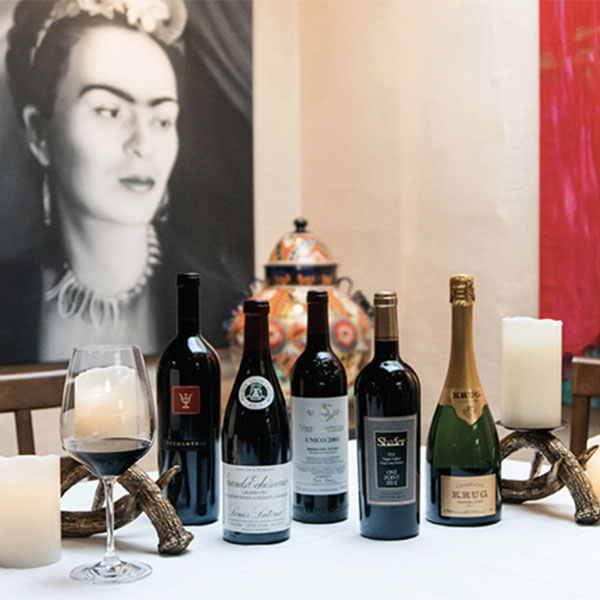 sazon restaurant, frida and wine bottles