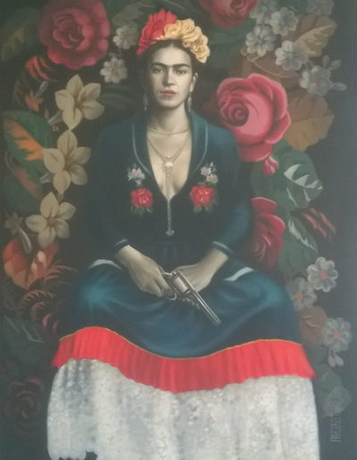 Frida with Gun
