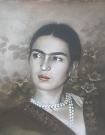 Frida with Pearls